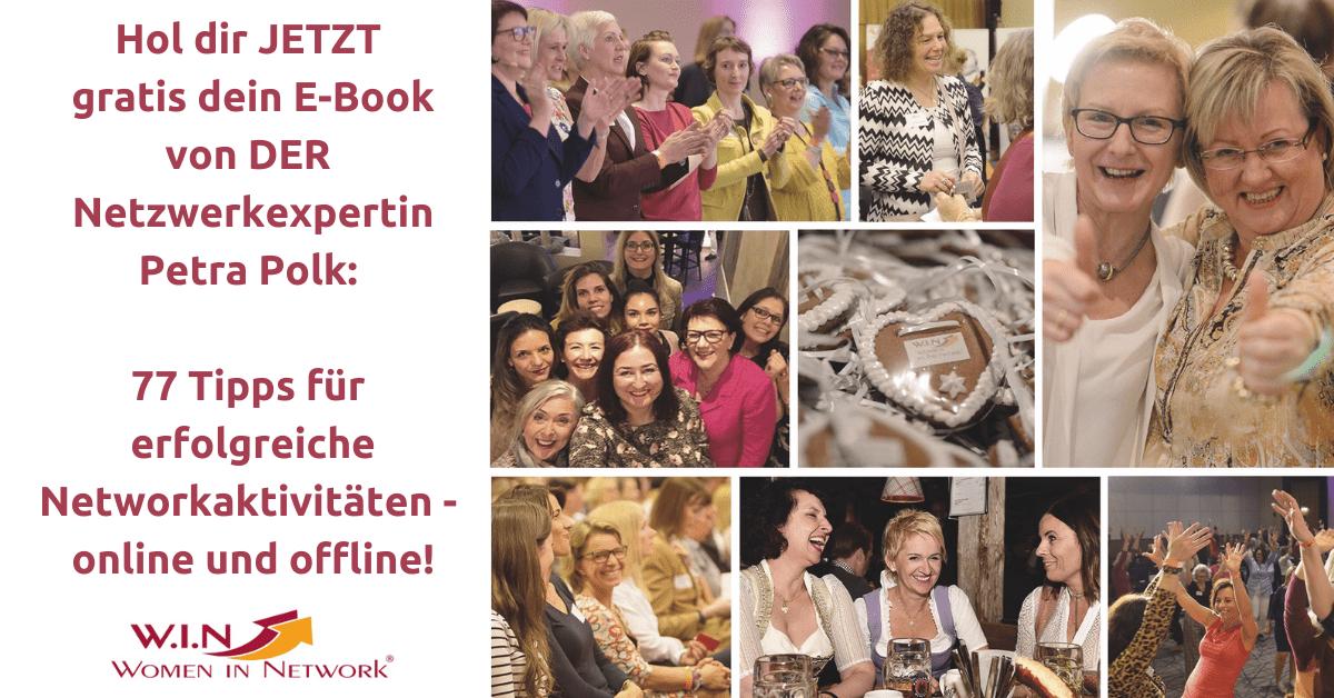 Hol dir JETZT gratis dein E-Book von DER Netzwerkexpertin Petra Polk_ _77 Tipps für erfolgreiche Networkaktivitäten - online und offline!