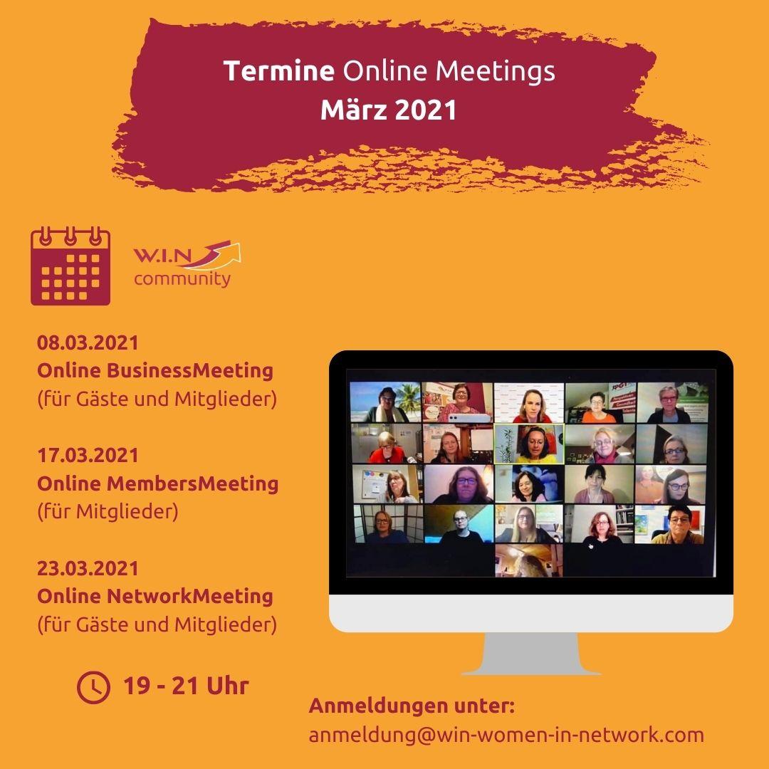 WIN Meetings März 2021