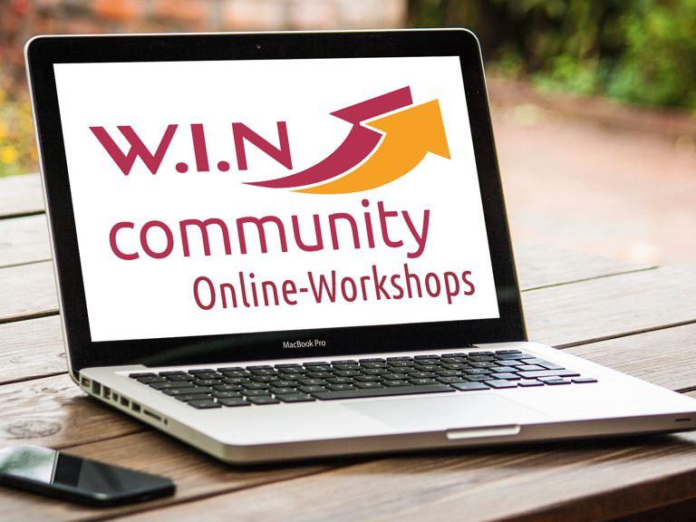 W.I.N Onlineworkshops (Banner Ankündigung)